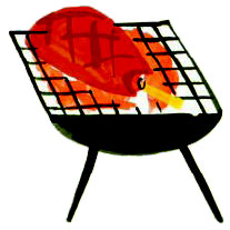 A barbecue illustration from United Tastes of America