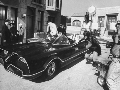 On the batman set, by Yale Joel (1966)