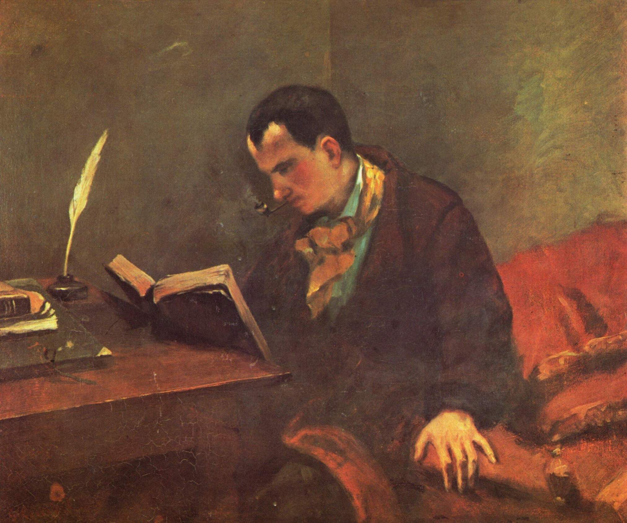 Charles Baudelaire (1848) by by Gustave Courbet