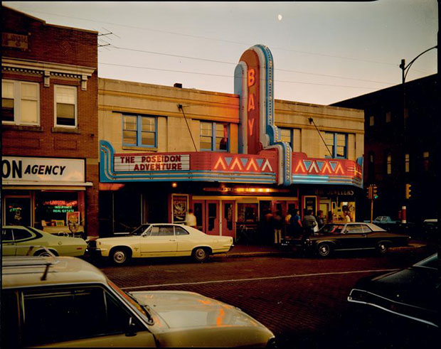 Theater, Second Street, Ashland, Wisconsin, July 9, 1973, by Stephen Shore. From Uncommon Places. Image courtesy of Galerie Edwynn Houk