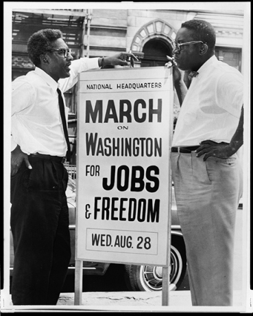 Bayard Rustin (left) with Cleveland Robinson
