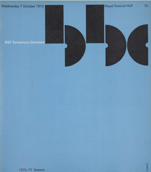 BBC Symphony Orchestra Programme, Cover 1970 by Gerald Cinamon
