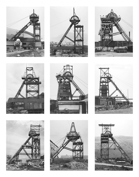 Winding Towers, 1966-97, by Bernd and Hilla Becher