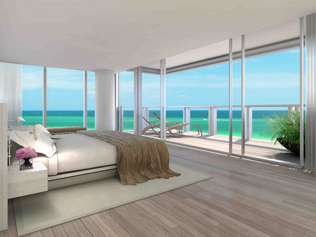 Rendering of the Miami Edition residences, designed by John Pawson