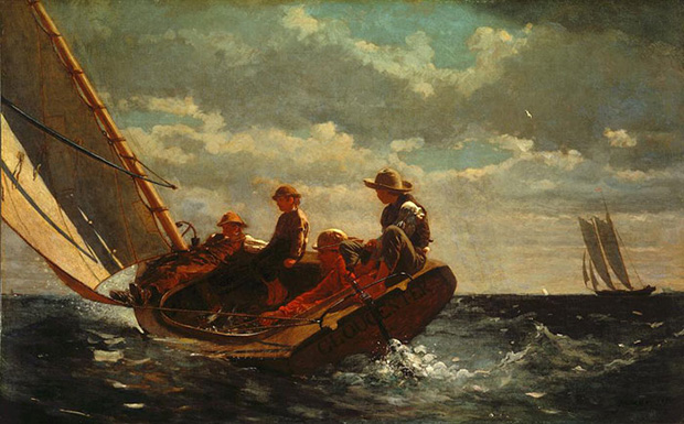 Breezing Up (A Fair Wind) 1873-6 by Winslow Homer