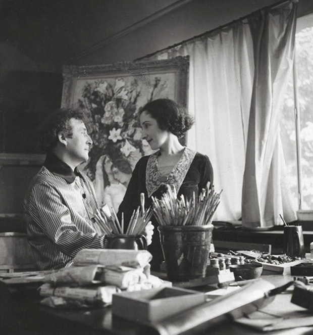 Bella and Marc Chagall in Paris, circa 1938