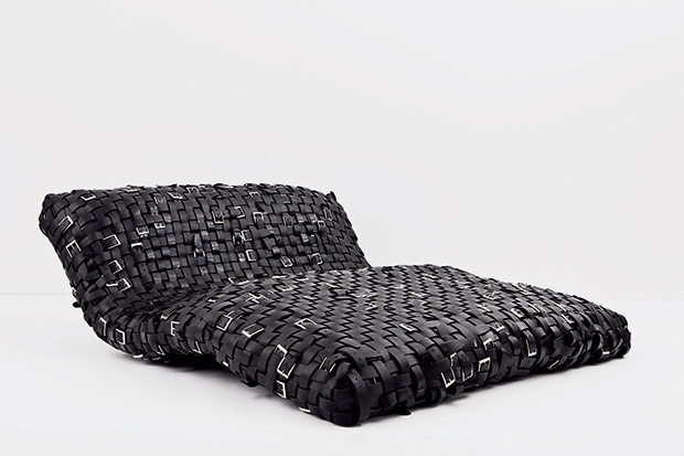 Belt Couch (2004) by Monica Bonvicini
