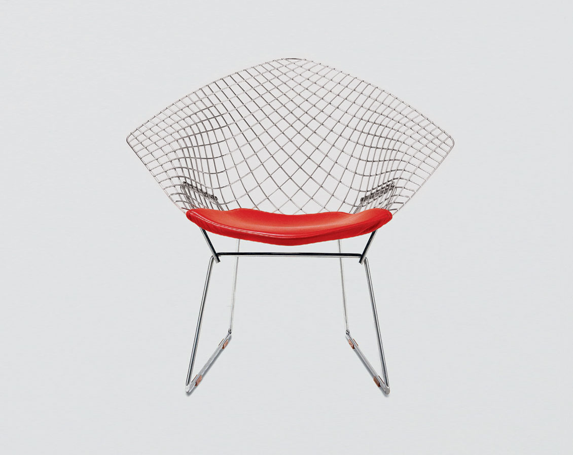 The Diamond Chair by Harry Bertoia or Knoll