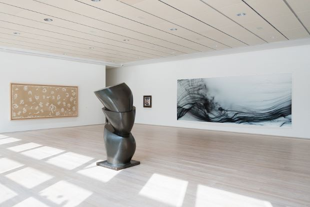 Tillmans Freischwimmer image beside works by Picasso and Matisse. Photograph by Wolfgang Tillmans.