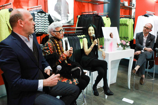 Kirk Standen, Iris Apfel, Vera Wang and host Simon Collins, Dean of Fashion at Parsons The New School for Design - Photo courtesy BFA