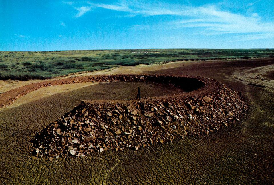 Amarillo Ramp (1973) by Robert Smithson