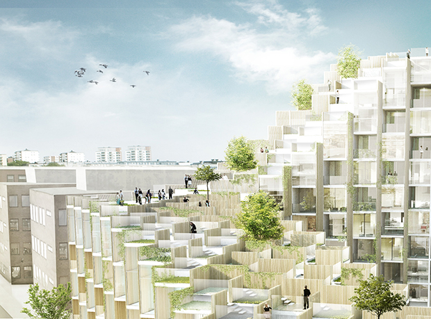 79 & Park in Stockholm by BIG, image courtesy of Oscar Properties