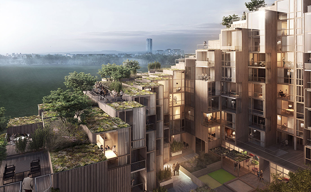 Big blends city living with the country life for Big city apartments