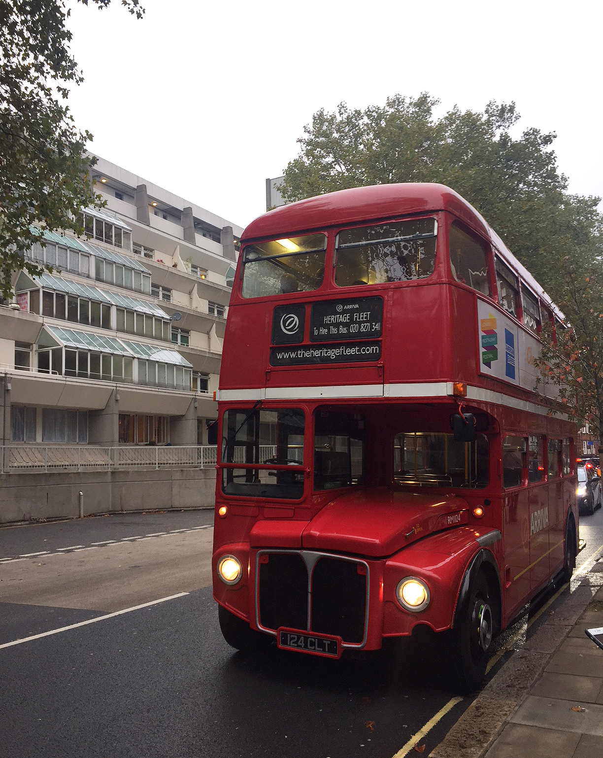 The Routemaster bus at the Brunswick Centre