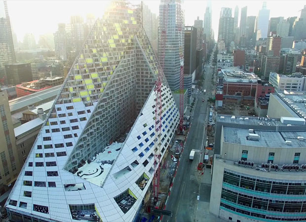 Drone targets BIG's first New York building