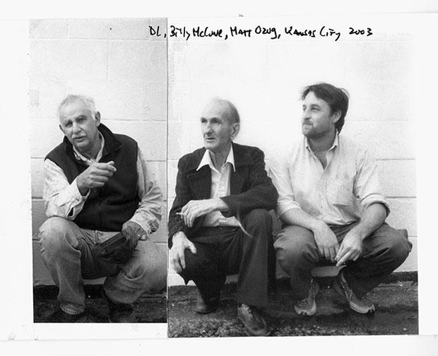 From left: Danny Lyon, Billy McCune and documentary maker Matt Ozug. Kansas City, 2003