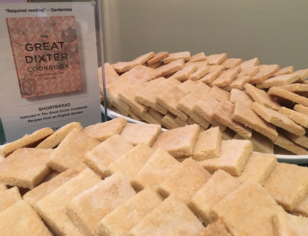 The shortbread, made using a Great Dixter Cookbook recipe, was delicious