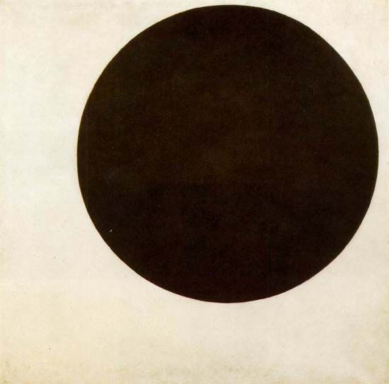 Black Circle (1915) by Kazimir Malevich. Image: public domain, courtesy of Wikimedia Commons