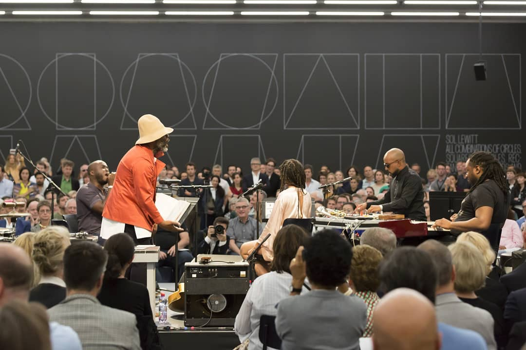 Theaster Gates cuts a live jazz record at his Swiss show