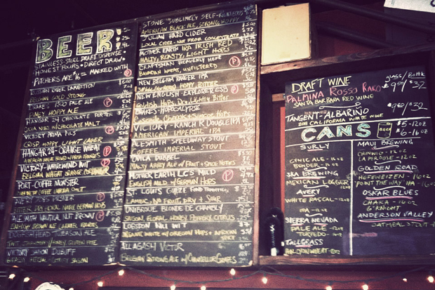 The beer board at the Blind Lady Ale House, Clark Street Ale House, San Diego, California