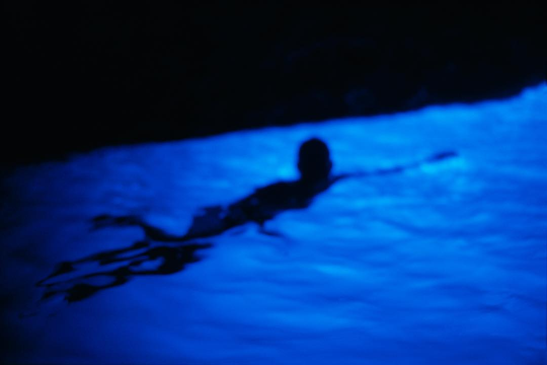 Gigi in Blue Grotto, Capri 1997 by Nan Goldin