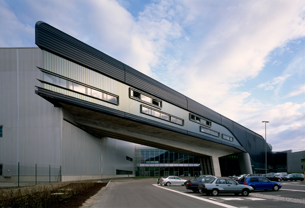 The BMW Factory Central Building, by Zaha Hadid, as featured in the Phaidon Atlas