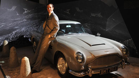 James Bond and his 1964 Aston Martin DB5