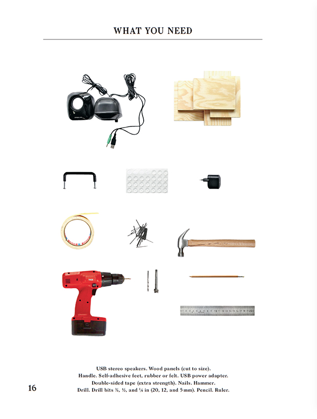 What you need for Konstantin Grcic's Boom. As featured in Do It Yourself