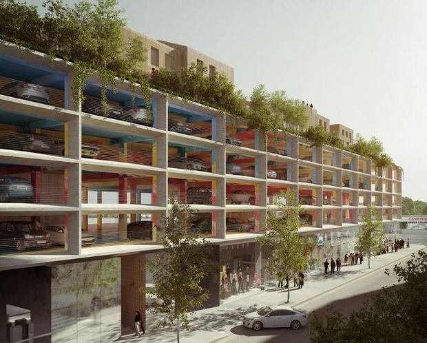 Architects Plan A Car Park With A Courtyard On Top