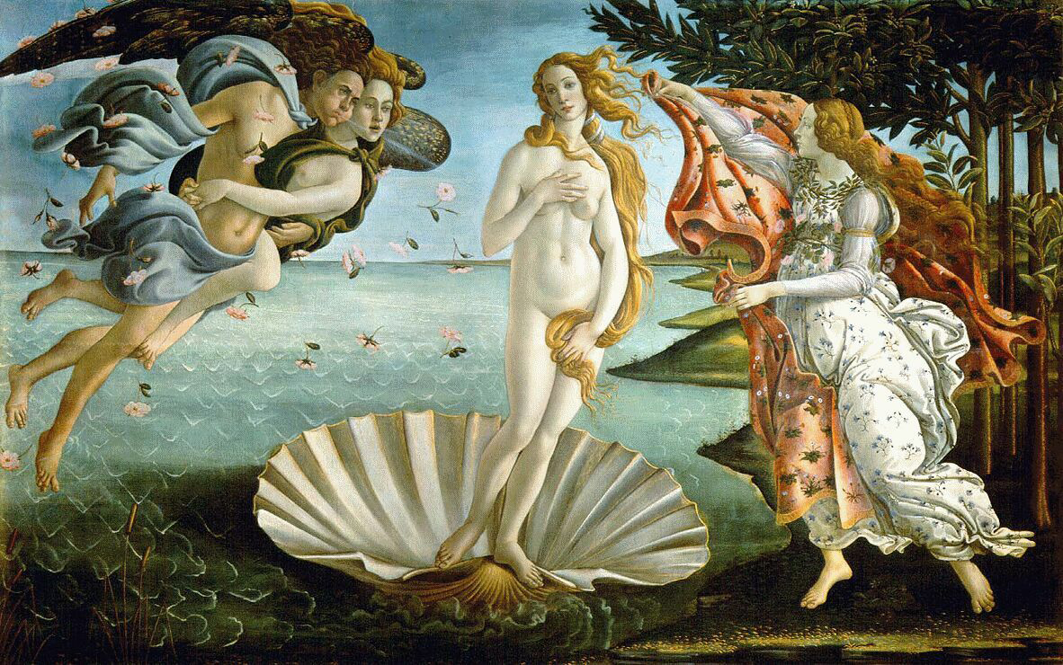 The Birth of Venus (c.1484) by Botticelli