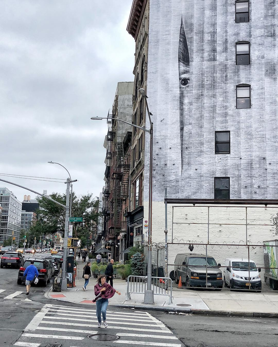 JR's new work on the Bowery. Image courtesy of the artist's Instagram