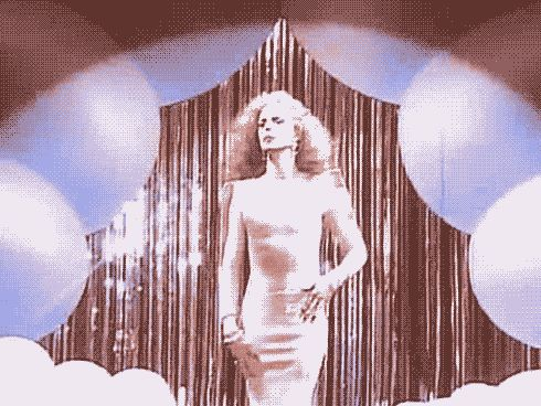 David Bowie in his Mugler dress, Boys Keep Swinging video, 1979