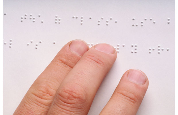 Braille, developed by Louis Braille in 1929.