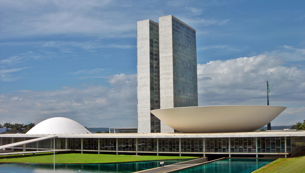 Brasilia's National Congress building, designed by Oscar Niemeyer