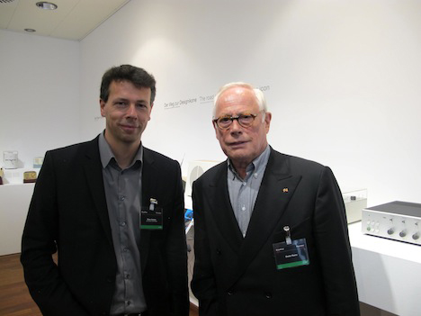 Dieter Rams (right) and Olivier Grabes, head of Braun Design