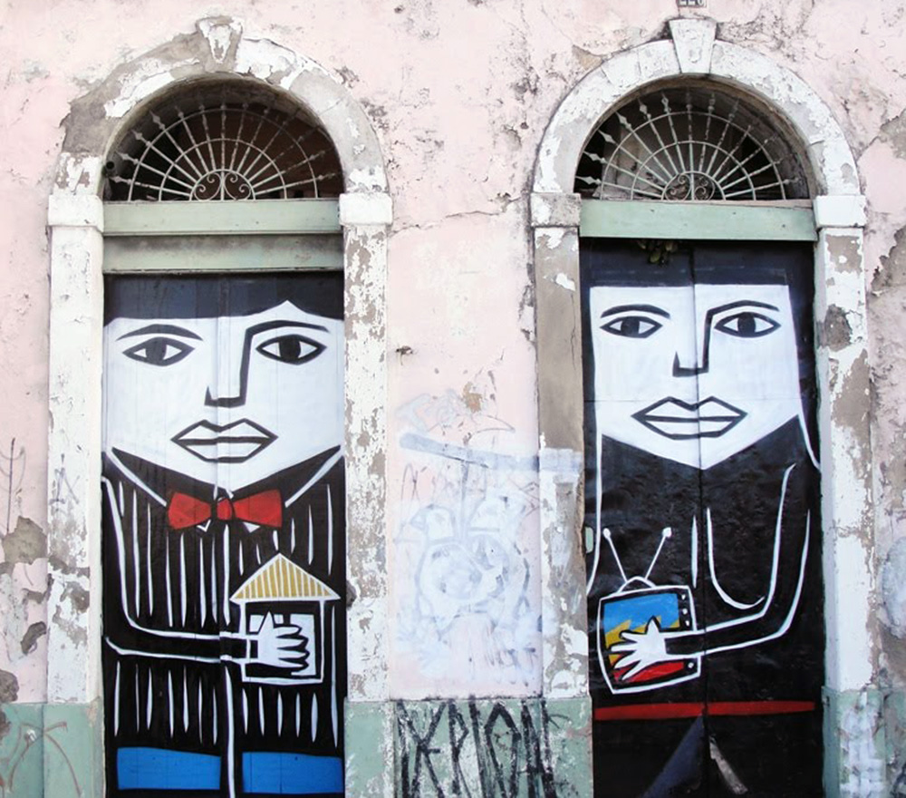 One of Derlon Almeida's works in Recife, Brazil. As reproduced in our book Brazil