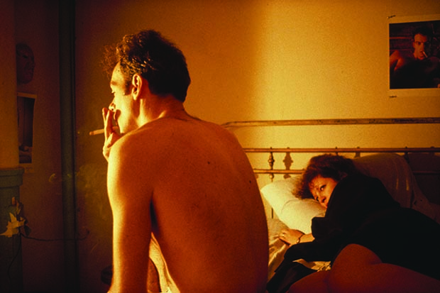 Nan and Brian in Bed, NYC, 1983, by Nan Goldin