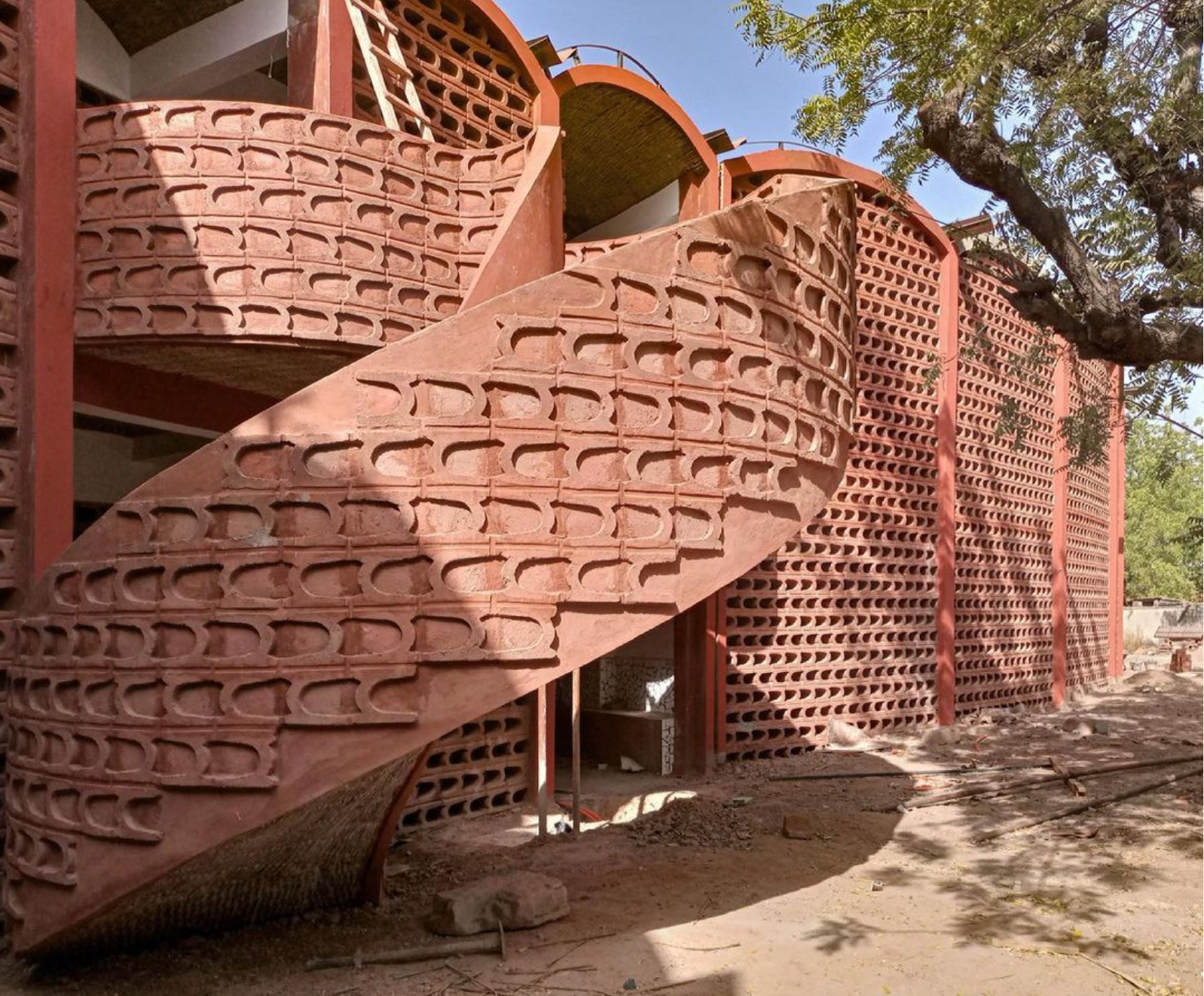 Take a look at the beautiful brick hospital the Albers Foundation is building in Senegal