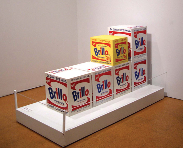 Brillo Boxes (1964) by Andy Warhol