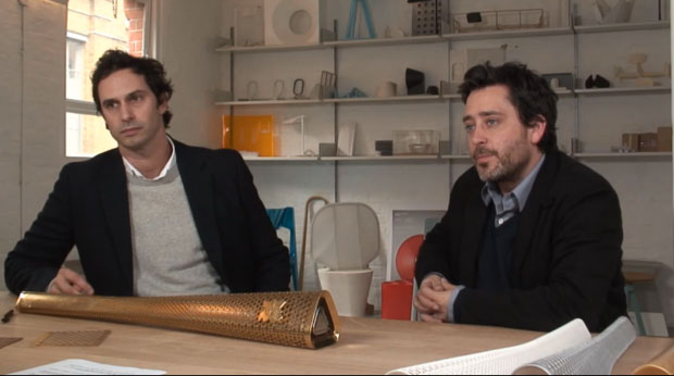 Jay Osgerby and Ed Barber discuss the Olympic torch design