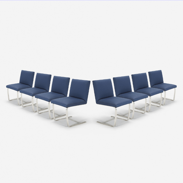 Eight Brno chairs by Mies van der Rohe. Image courtesy of Wright