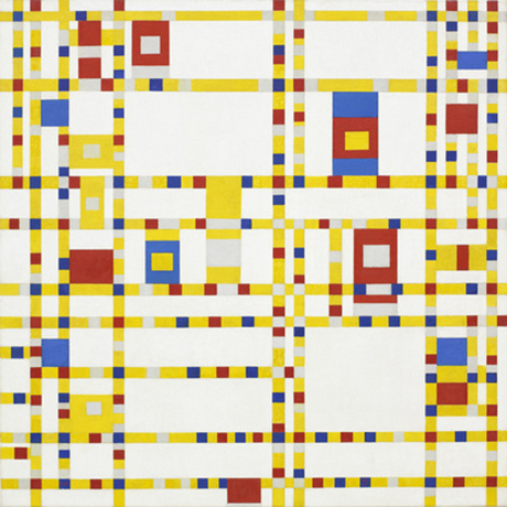 Broadway Boogie Woogie by Piet Mondrian, 1942–1943, USA. From 30,000 Years of Art