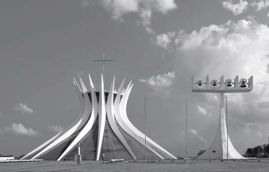 Cathedral of Brasília, Brazil, 1970, by Oscar Niemeyer as featured in Atlas of Brutalist Architecture