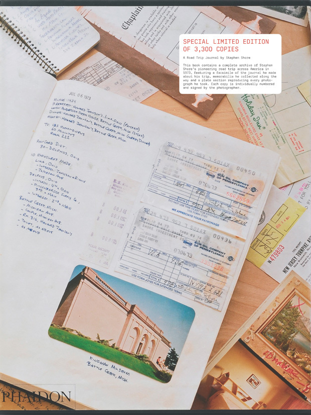 stephen shore a road trip journal photography phaidon store