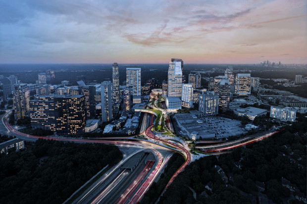 Could Atlanta build a High Line over this highway?