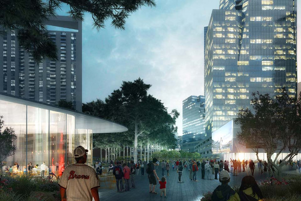 Buckhead Park Over GA400 by Rogers Partners