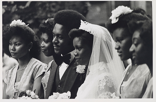 Wedding from Handsworth from Inside,1968-82 by Vanley Burke. From At Home with Vanley Burke, Ikon Gallery, Birmingham, 22 July – 27 September 2015, ikon-gallery.org. Courtesy Vanley Burke and Ikon