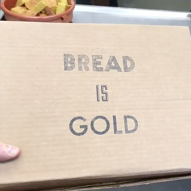A still from the Bread is Gold unboxing video Studio Olafur Eliasson posted