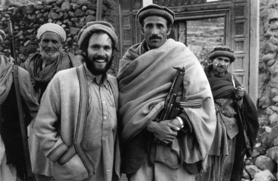 Steve McCurry (centre left) in Afghanistan, 1979