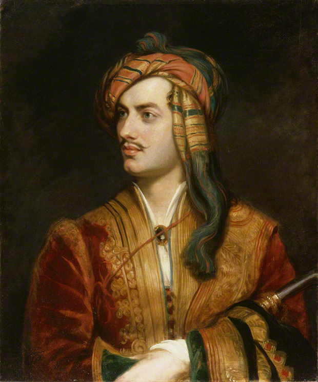 Portrait of Lord Byron in Albanian Dress (1813) by Thomas Phillips